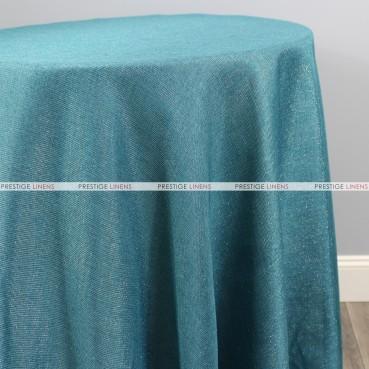 Vintage Linen Metallic Table Linen - Seafoam