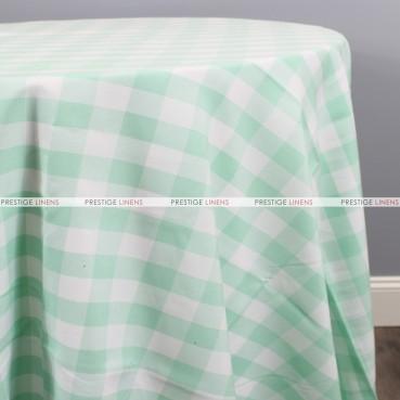 Gingham Buffalo Check Table Linen - Mint
