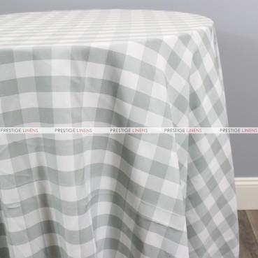Gingham Buffalo Check Table Linen - Silver