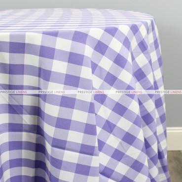 Gingham Buffalo Check Table Linen - Lilac