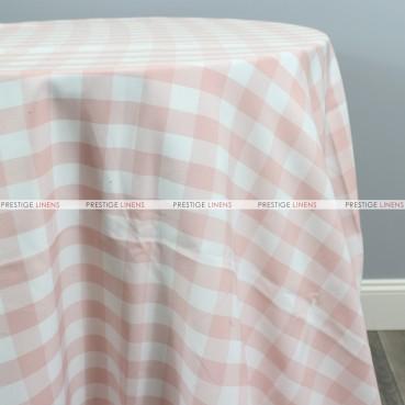 Gingham Buffalo Check Table Linen - Blush