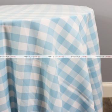 Gingham Buffalo Check Table Linen - Skyblue