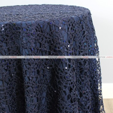 Chemical Lace Table Linen - Navy