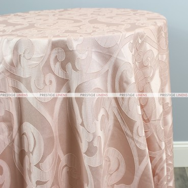 Victorian Damask Table Linen - Blush