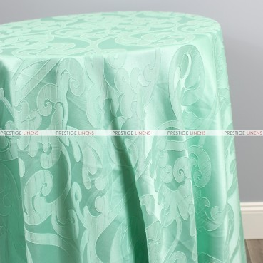Victorian Damask Table Linen - Mint