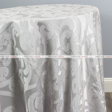 Victorian Damask Table Linen - Silver