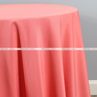 Polyester (Double Width) Table Linen - 432 Coral