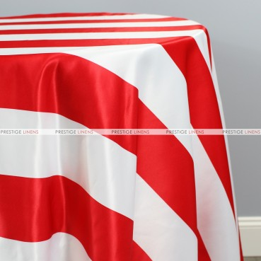 Striped Print Lamour Table Linen-3.5 Inch-Red