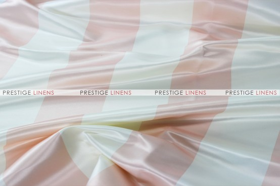 Striped Print Lamour Aisle Runner - 3.5 Inch-Blush/Ivory