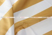 Striped Print Lamour Pad Cover - 3.5 Inch - Gold