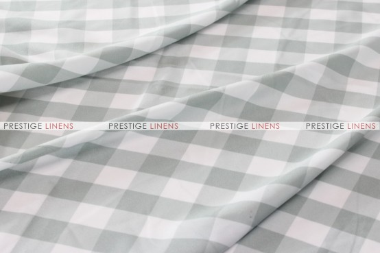 Gingham Buffalo Check - Fabric by the yard - Silver