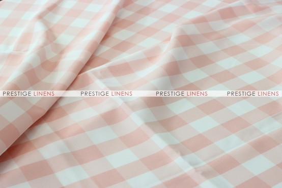 Gingham Buffalo Check Draping - Blush