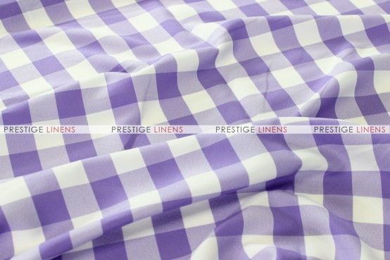 Gingham Buffalo Check Draping - Lilac