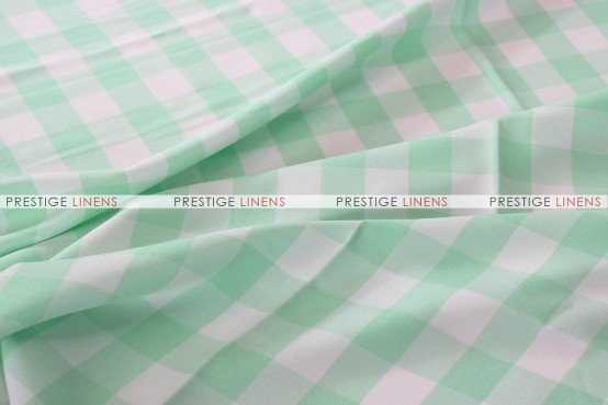 Gingham Buffalo Check Draping - Mint