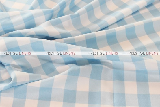 Gingham Buffalo Check Draping - Skyblue