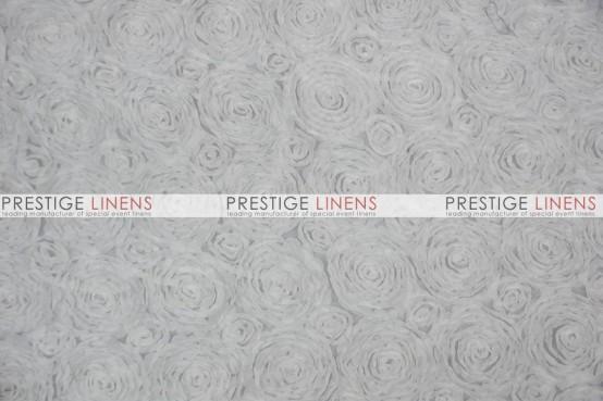 Rosette Chiffon Draping - White