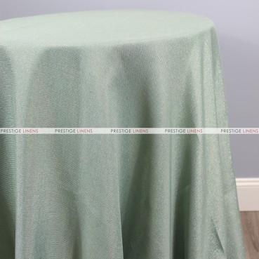 Vintage Linen Metallic Table Linen - Mint
