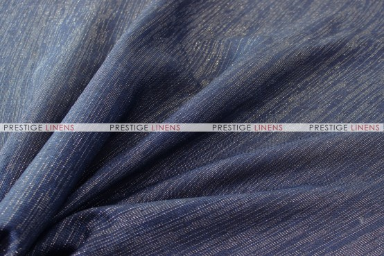 Vintage Linen Metallic - Fabric by the yard - Denim
