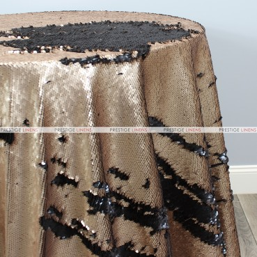 Chameleon Sequins Table Linen - Black Gold