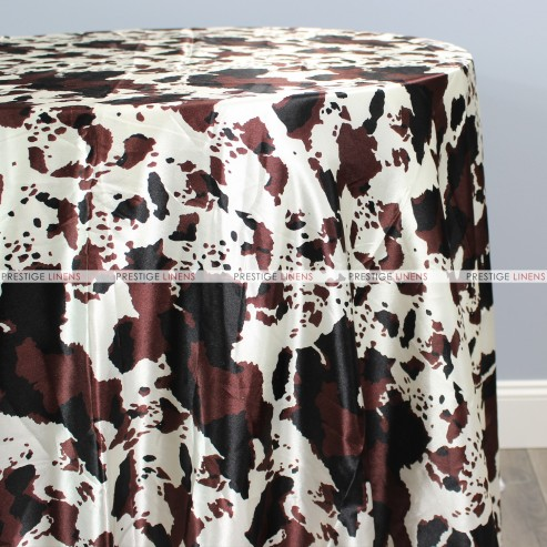 Cow Print Charmeuse Table Linen Combo Prestige Linens