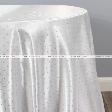 Starlight Satin Table Linen - White
