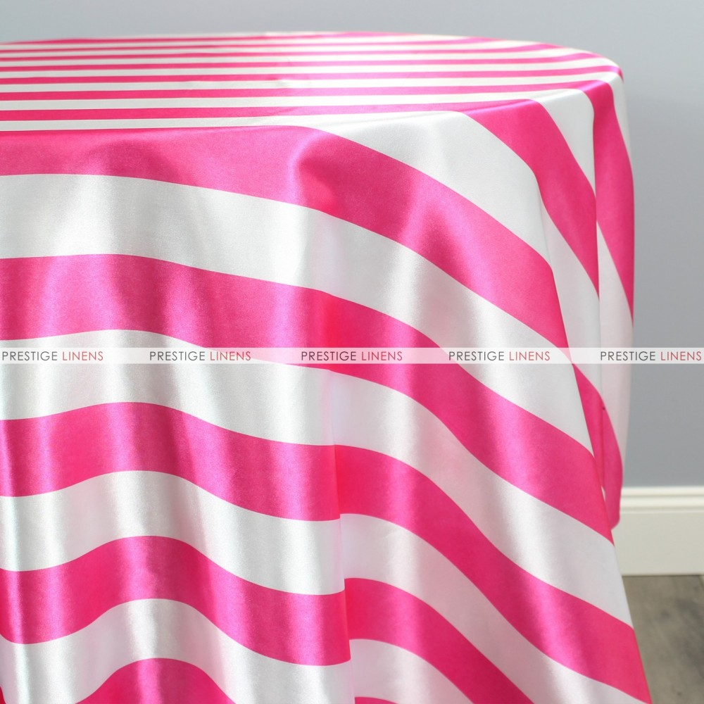 Striped Print Charmeuse Table Linen   Hot Pink ...