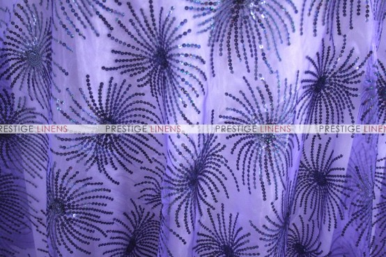 DESTINY SEQUINS TABLE LINEN - DK LILAC