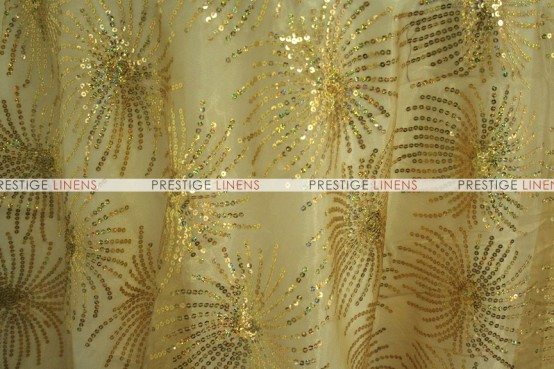 DESTINY SEQUINS TABLE LINEN - GOLD