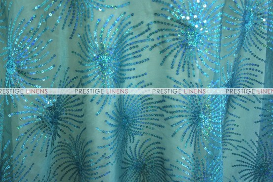 DESTINY SEQUINS TABLE LINEN - TEAL