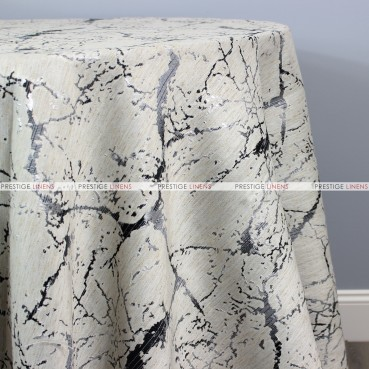 ALABASTER TABLE LINEN - BLACK/SILVER