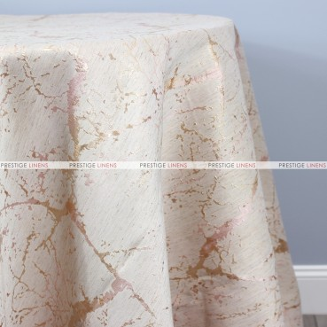 ALABASTER TABLE LINEN - ROSE/GOLD