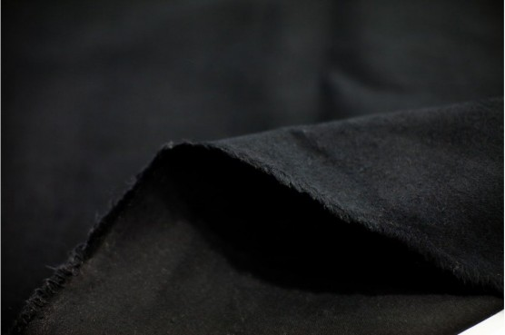 DUVETYNE FABRIC - FABRIC BY THE YARD - BLACK