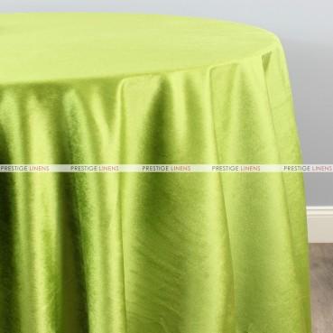 VELVETEEN TABLE LINEN - APPLE GREEN