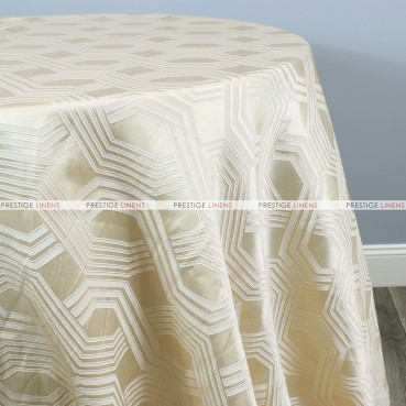 Geometric Jacquard Table Linen - Champagne