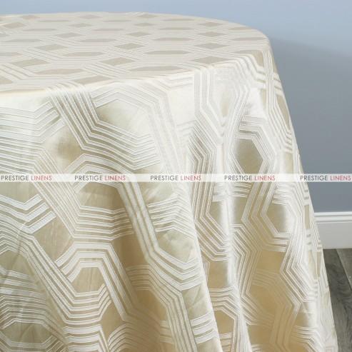 Geometric Jacquard Table Linen - Champagne