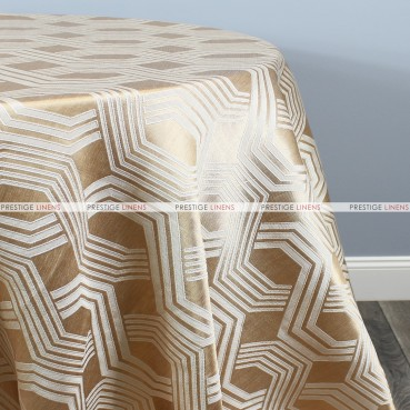 Geometric Jacquard Table Linen - Gold