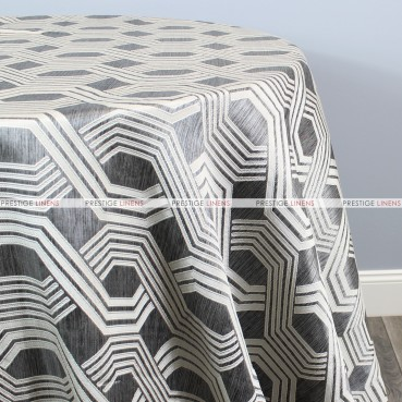 Geometric Jacquard Table Linen - Grey