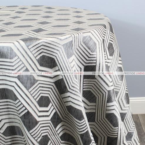 Geometric Jacquard Table Linen - Grey