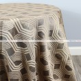 Geometric Jacquard Table Linen - Mocha