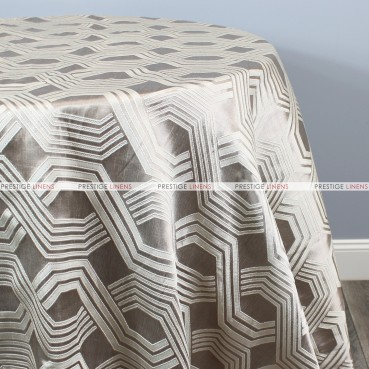 Geometric Jacquard Table Linen - Taupe