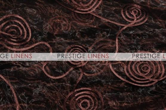 Spiral Ribbon Organza Draping - 333 Brown