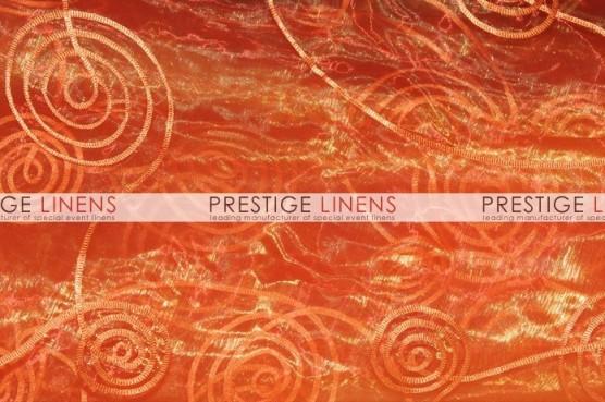Spiral Ribbon Organza Draping - 431 Orange