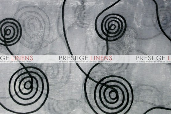 Spiral Ribbon Organza Draping - White/Black