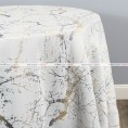ALABASTER TABLE LINEN - WHITE/SILVER