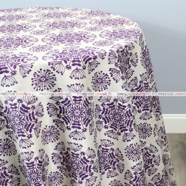DANDELION TABLE LINEN - PURPLE
