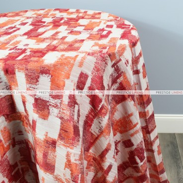 PATCHWORK TABLE LINEN - ORANGE
