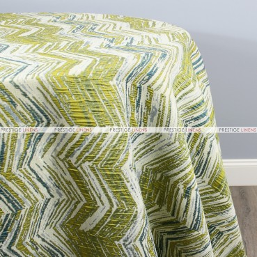 ELEVATION TABLE LINEN - TEAL/LIME