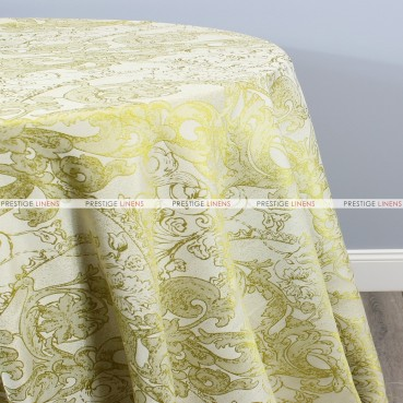 FLORENTINE TABLE LINEN - CHARTREUSE