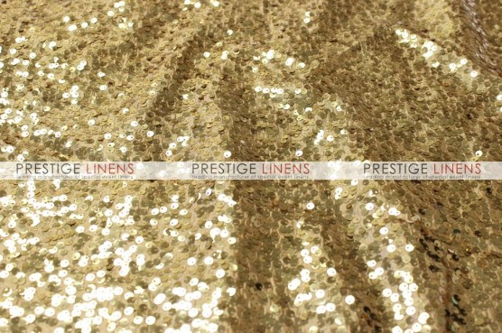 Taffeta Sequins Embroidery Draping - Gold
