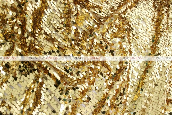 Teardrop Sequins Draping - Gold